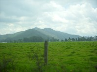 The Andes mountains just outside of Bogotá.