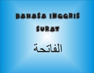 Terjemah Al-Fatihah Bahasa Inggris