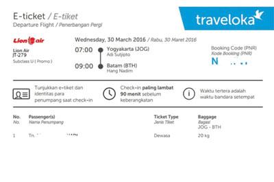 Cara Beli Tiket Lewat Traveloka Secara Online