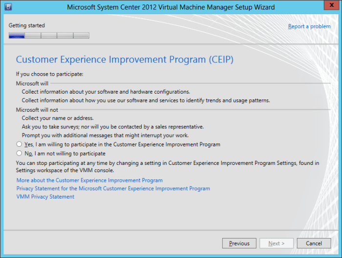 SCVMM2016TP2-CEIP First Look at System Center 2016 Virtual Machine Manager Technical Preview 2