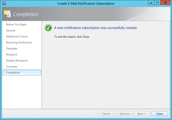 Create Notification Sub - Release Record 21