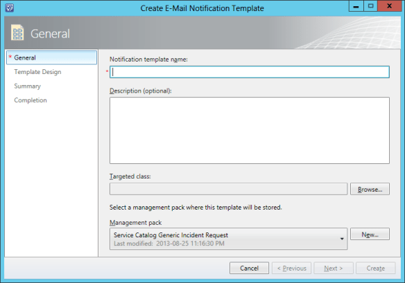 Create Notification Template - Change Request 04