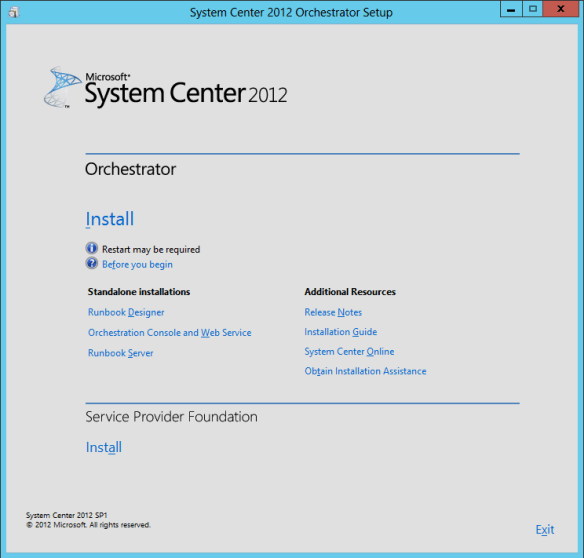 Orchestrator Install 01