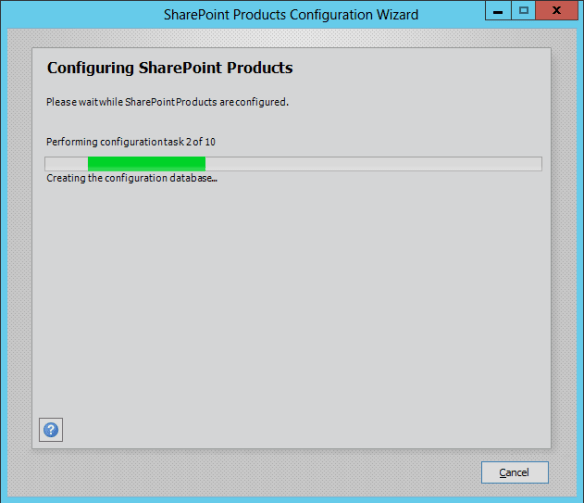 SharePoint Config Wizard 03
