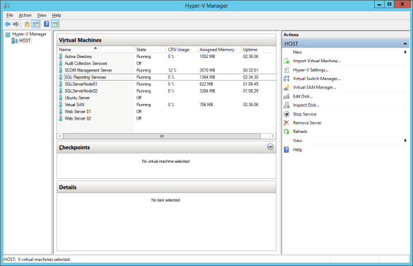 WindowsServer2012R2 HyperV VM Lab