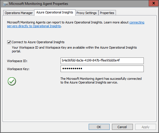 Azure - OMS - Monitoring Agent Properties