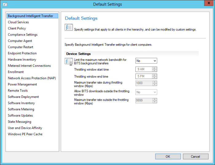 SCCM2016TP2 - Client Settings