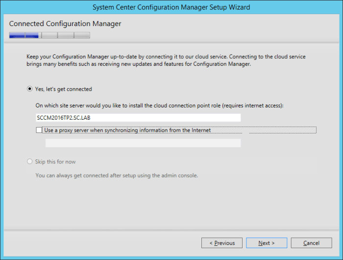 SCCM2016TP2 - Connect ConfigMgr