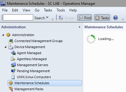 SCOM2016TP2 - Maintenace Schedules