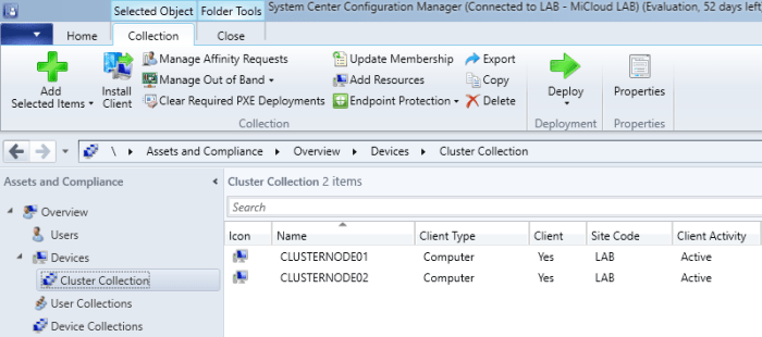 SCCM2016TP3 - Cluster Collection