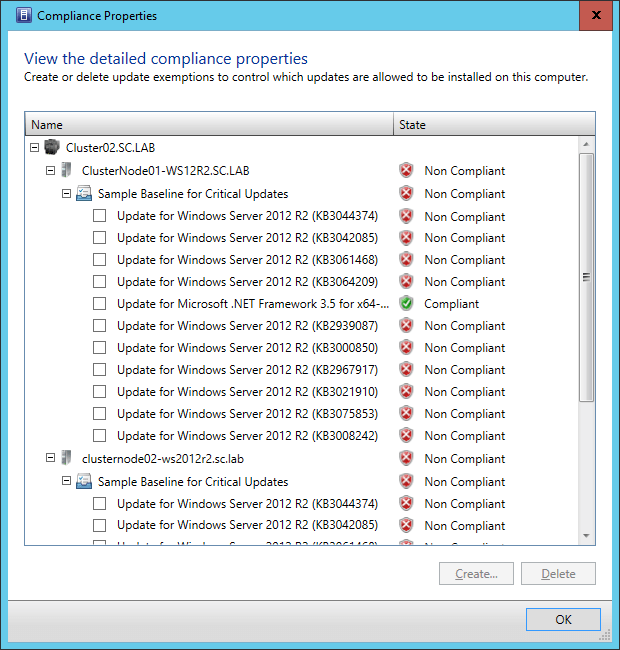 SCVMM2016TP3-Fabric-Servers-Compliance Cluster Patching Showdown: Comparing SCVMM and SCCM Patching