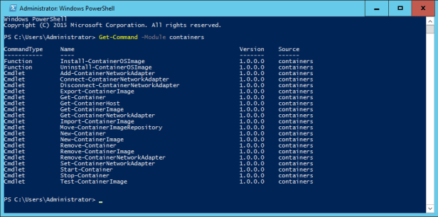 Container PowerShell Commands