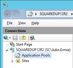 Squared Up - IIS App Pools