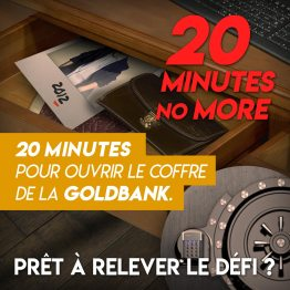 "Visuel scénario escape game ""20 minutes no more"""