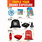 Triple your brand exposure