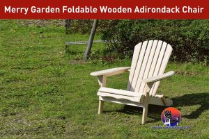 Merry Garden Foldable Wooden Adirondack Chair