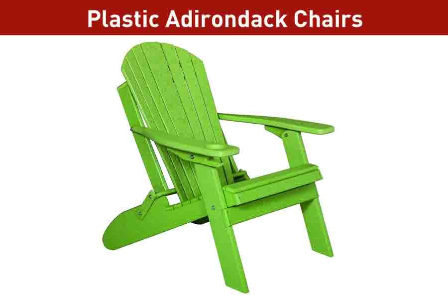 Plastic Adirondack chair