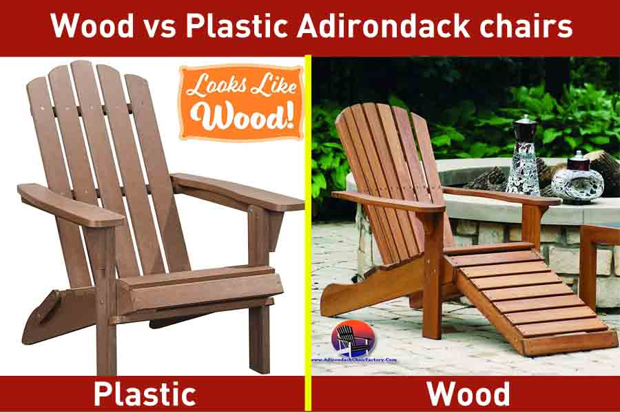 Wood vs Plastic Adirondack chairs
