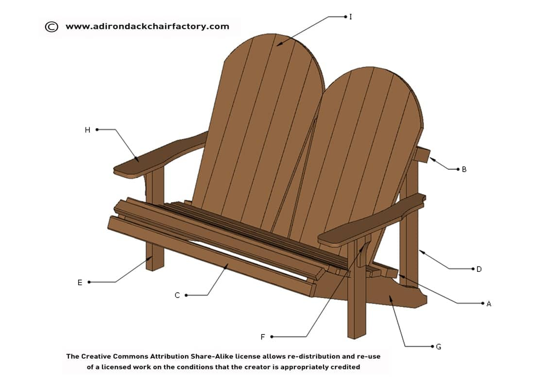 image regarding Printable Adirondack Chair Plans referred to as 50 + Free of charge Adirondack Chair Packages On your own Can Do it yourself Currently