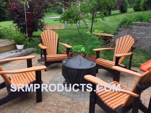 polywood adirondack chairs office chair vastu furniture home model 100 cedar black recycled plastic two tone