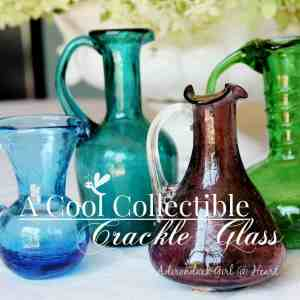 A Cool Collectible: Vintage Crackle Glass