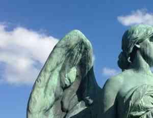 Albany Rural Cemetery: Angels Under Blue Skies