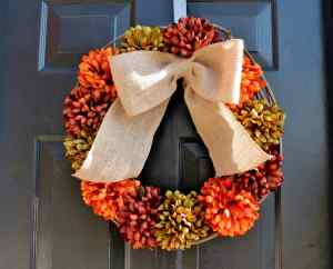 How to Make a Festive Fall Wreath