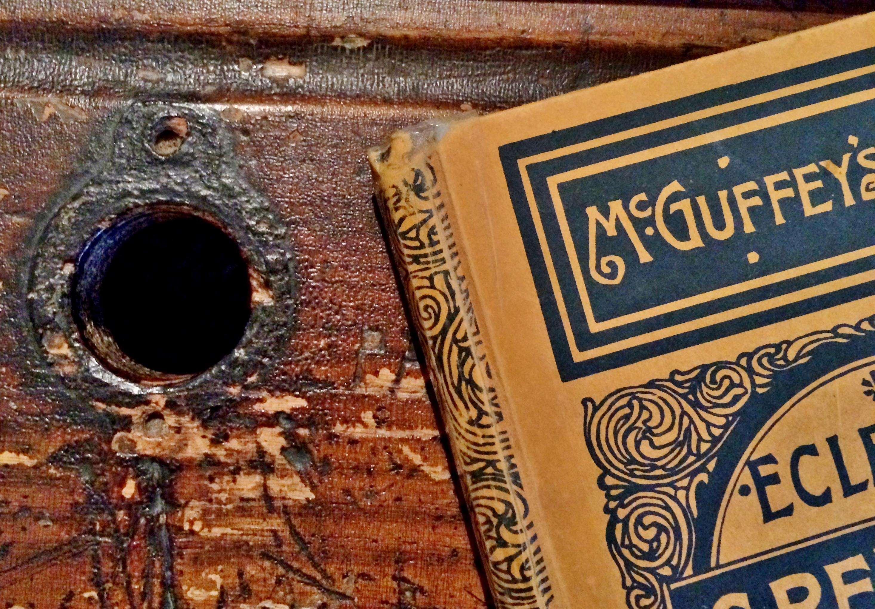 Antique McGuffey Reader in Bennington Museum