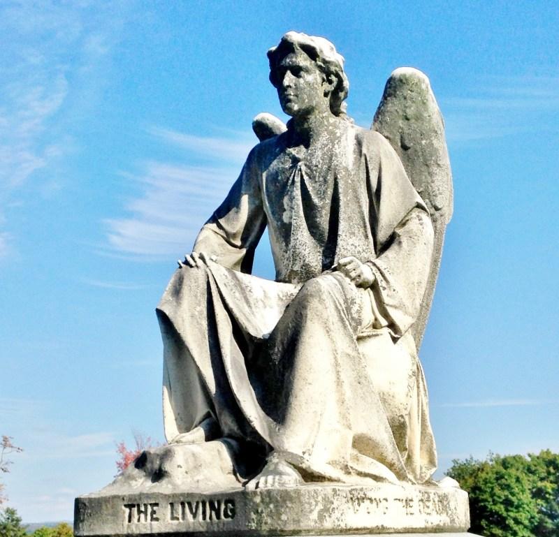 Angel of the Seplechre, Erastus Palmer, Albany Rural Cemetery