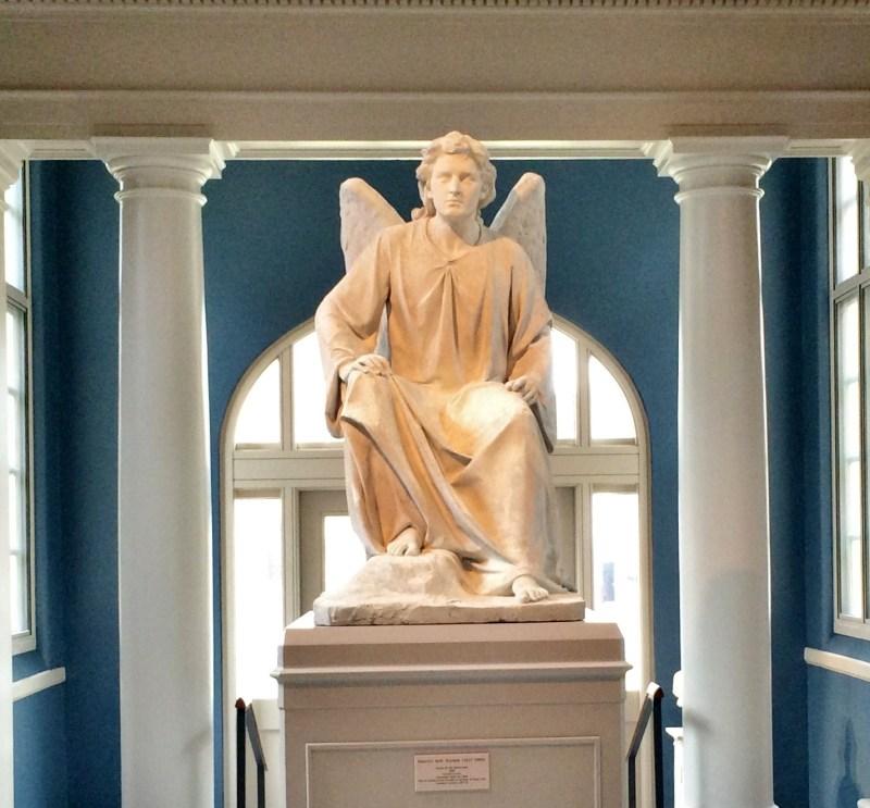 Plaster model of the Angel of the Sepulcher by Erastus Palmer