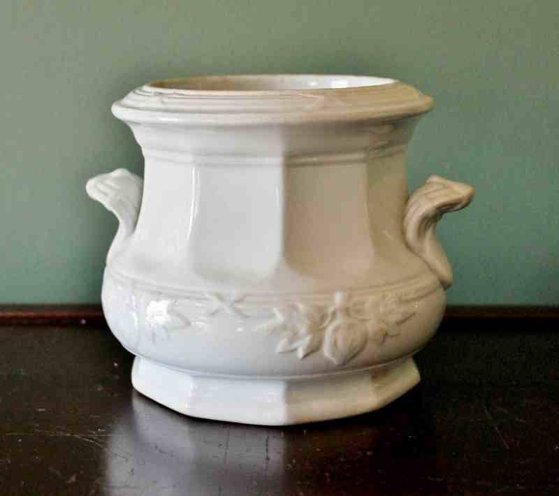 Davenport antique ironstone canister