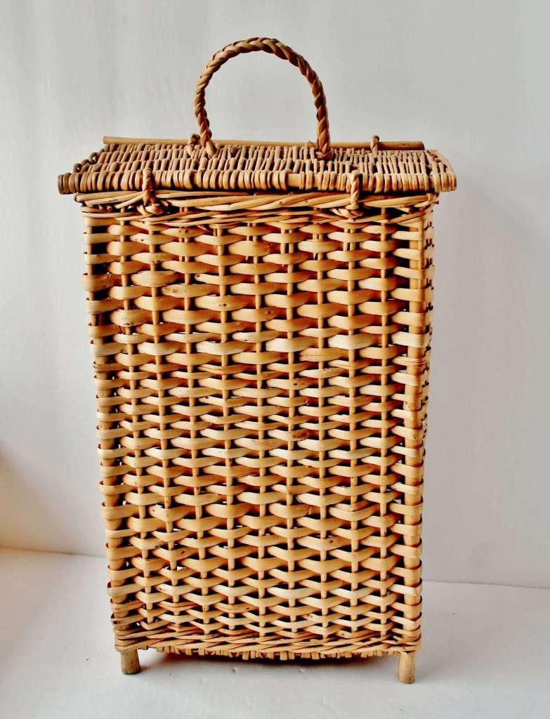vintage wicker wine basket