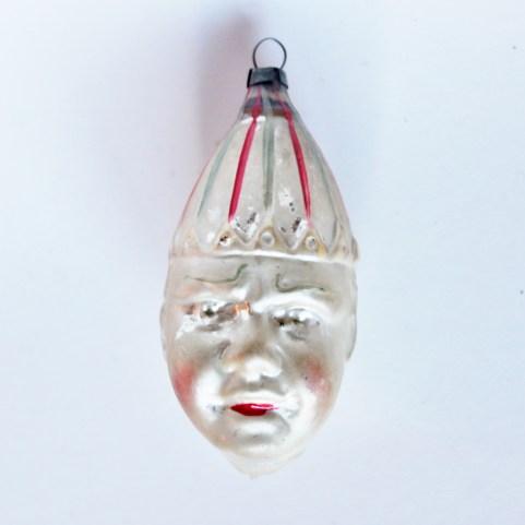antique clown christmas bulb