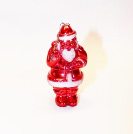 Plastic santa ornament adirondack girl at heart