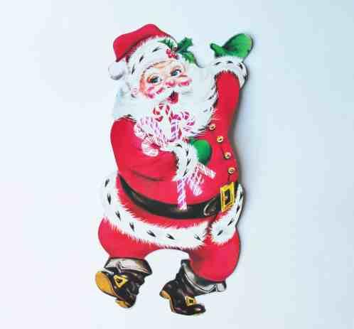 Vintage Cardboard Santa
