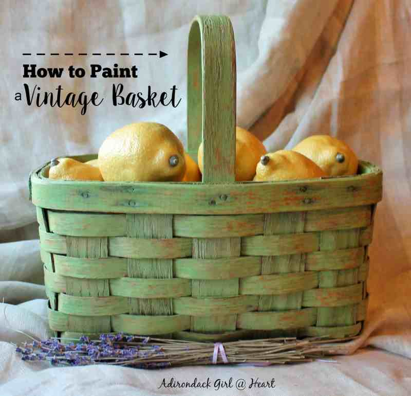 how to paint a vintage basket
