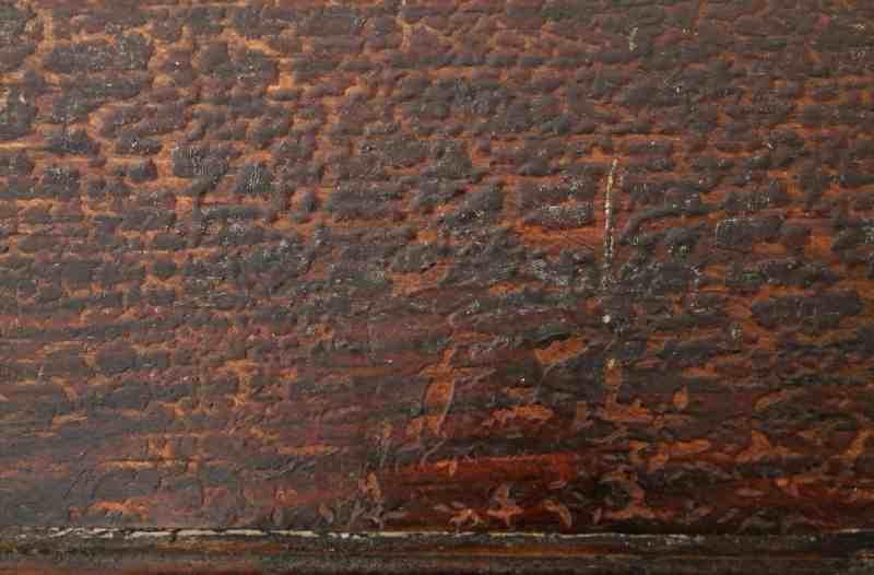 surface of antique cupboard door