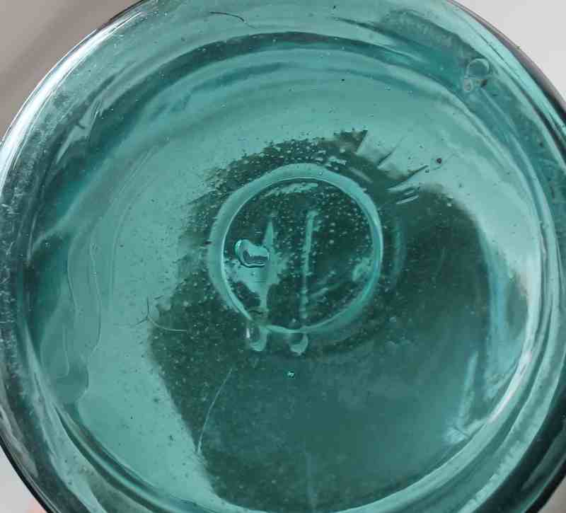 bottom of antique canning jar