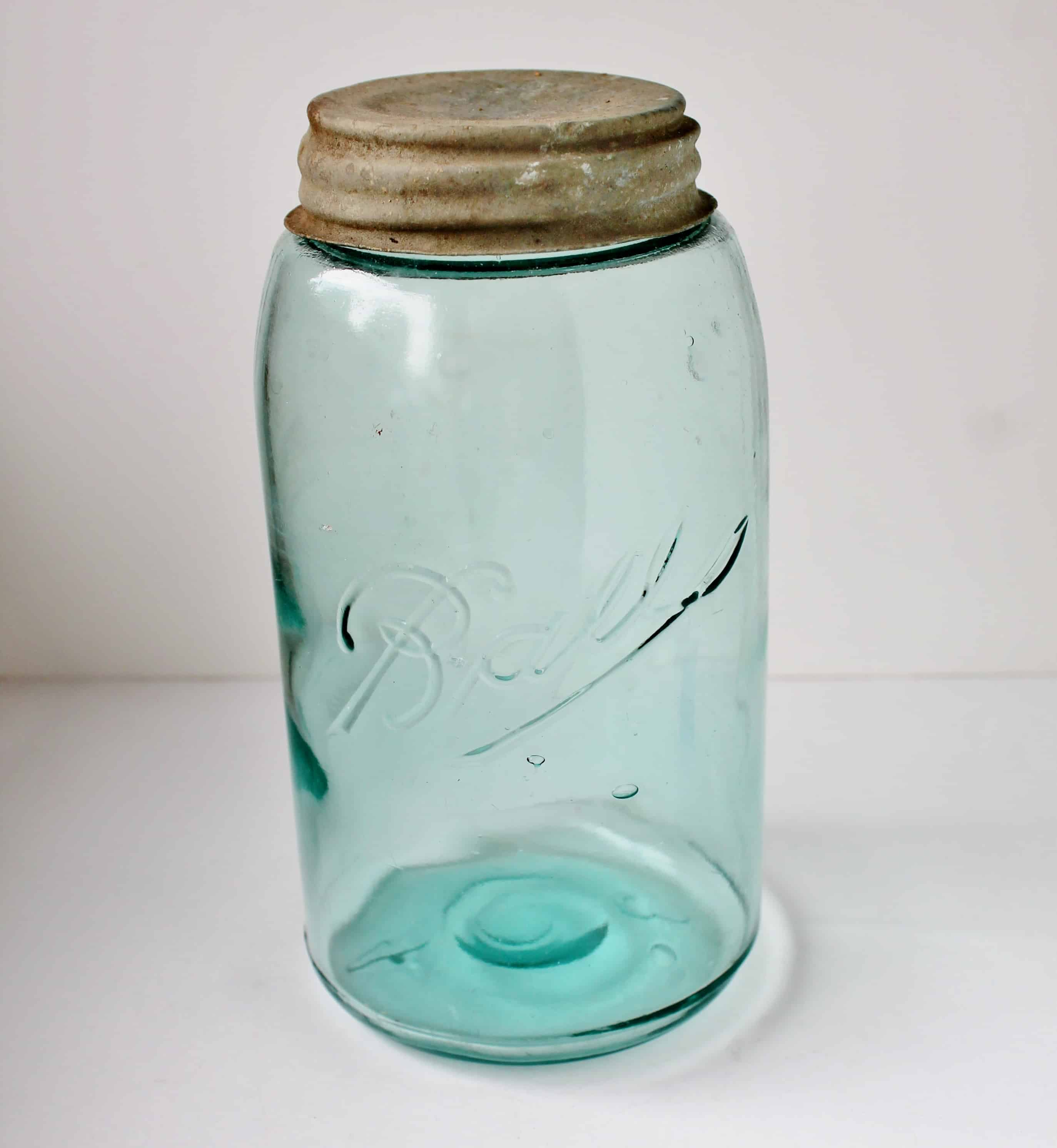 Antique aqua ball canning jar