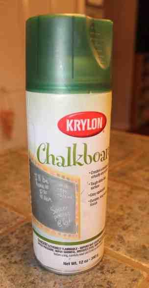 Krylon chalkboard paint