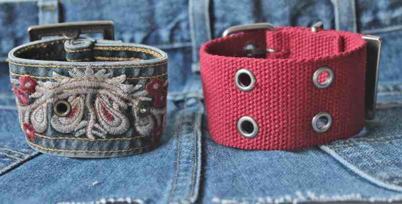 back view of vintage belt bracelets