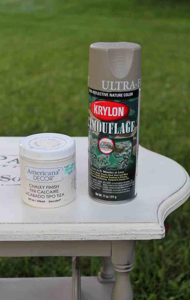paint used on vintage side table