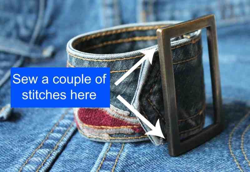 vintage belt bracelet diagram