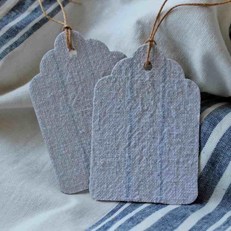 vintage linen tags