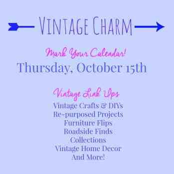Vintage Charm link party announcement