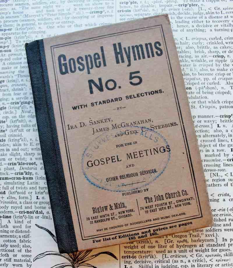 Antique miniature gospel hymns