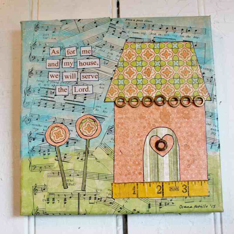 """Mixed Media Art """"As for me and my house..."""""""