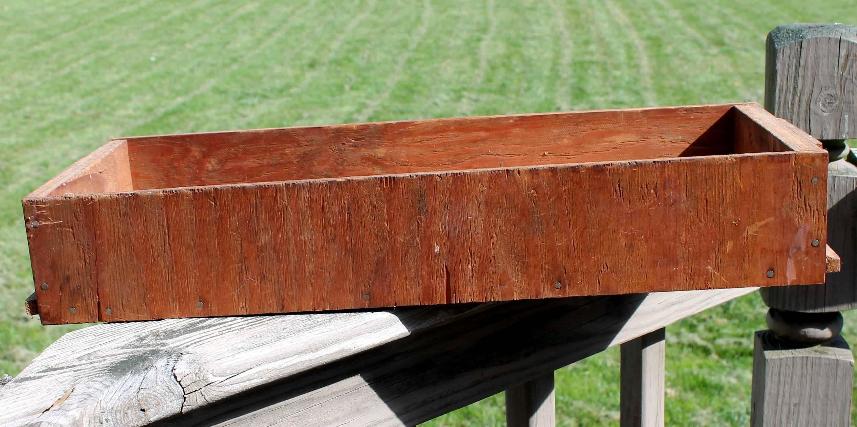 cruddy old box turned charming vintage tray adirondack heart