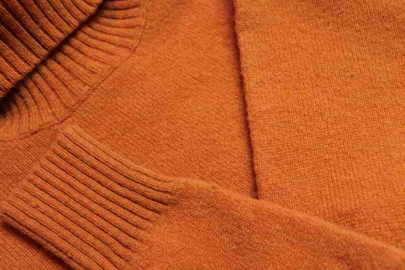 orange wool sweater