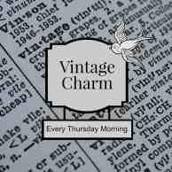 Vintage charm link party button